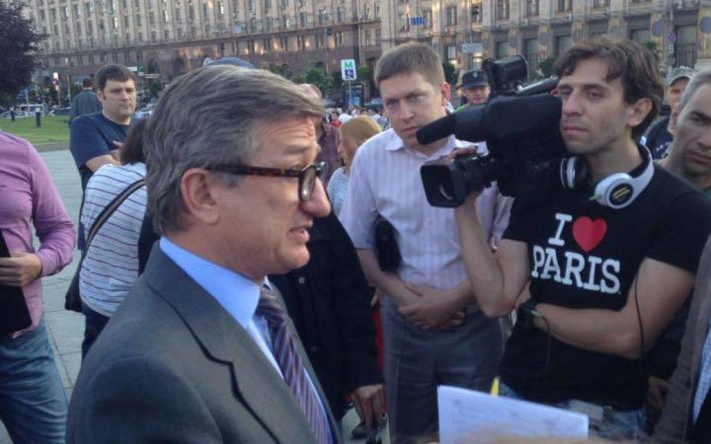 Сергей Тарута тоже был на митинге. / © facebook/IT Sector