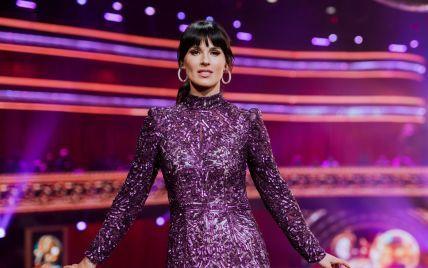 В обтягивающем платье с пайетками: Маша Ефросинина в эффектном образе появилась на танцевальном шоу
