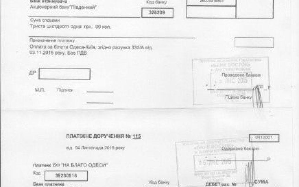 Все факты перелетов подтверждаются платежками спечатью банка обоплате / © Думская