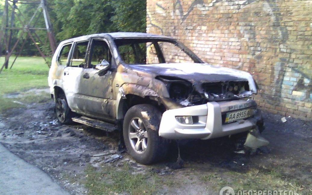 В Киеве неизвестные взорвали джип / © Обозреватель
