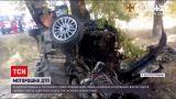 Новости Украины: в смятом в ДТП авто зажало троих человек, еще одного - выбросило на обочину