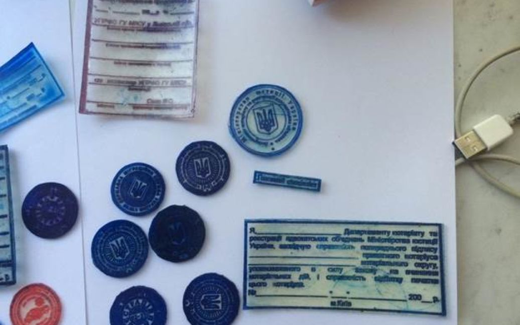 Украинка и нигериец подделывали документы в Киеве / © Пресс-служба СБУ