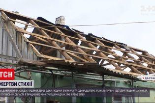 Новини України: на Донбасі через потужний буревій загинуло двоє людей