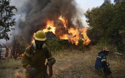 Масштабные пожары охватили запад Греции: горят сосны и оливковые деревья, 16 человек в больницах