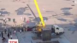 Утром демонтировали памятник Ленину в Славянске