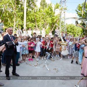 Терехов відкрив у Харкові сучасний спорткомплекс для дітей: ФОТО