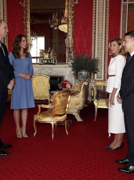 Герцогиня Кембриджская и принц Уильям, Елена Зеленская и Владимир Зеленский / © Associated Press
