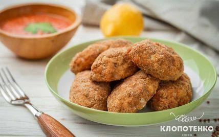 Рубленые котлеты из куриного филе с томатно-яблочным соусом: рецепт от Евгения Клопотенко