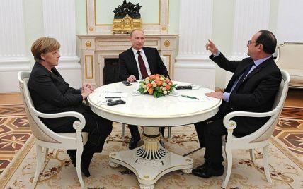 """Меркель, Путин и Олланд созвонились перед встречей """"нормандской четверки"""" министров"""