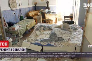Новини України: 71-річна жінка дістала травми через ремонт у квартирі на верхньому поверсі