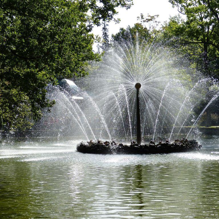 В Кременчуге женщина голышом залезла купаться в фонтане