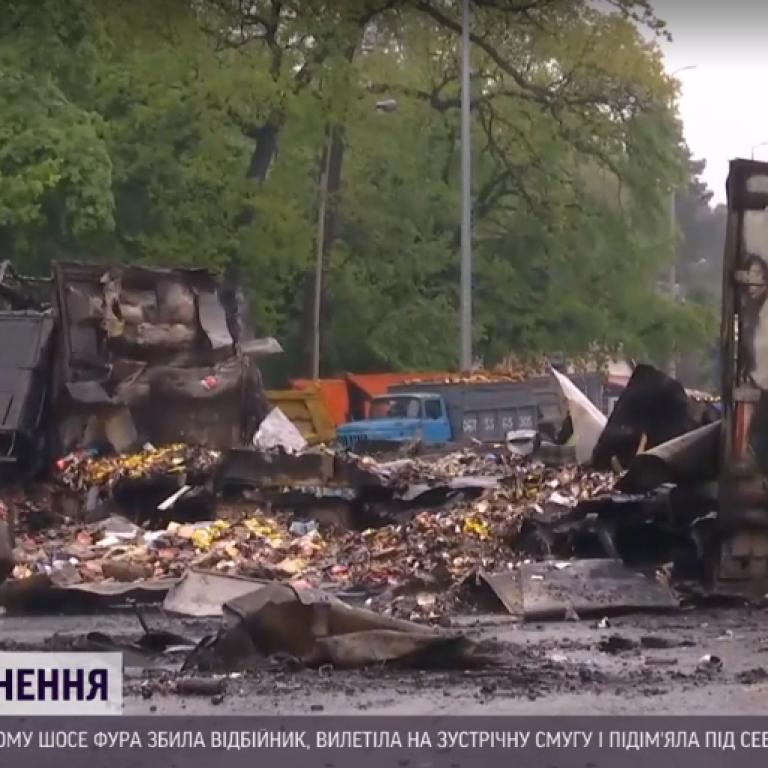 Количество жертв аварии под Киевом увеличилось до трех: видео