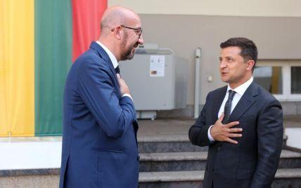 Зеленський у Литві зустрівся з головою Євроради: що обговорили