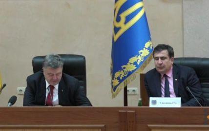 Порошенко рассказал, чего ожидает от Саакашвили уже через год