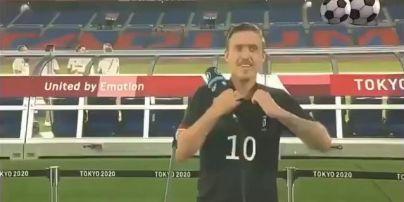 Як зворушливо: німецький футболіст в прямому ефірі освідчився коханій на Олімпіаді-2020 (відео)