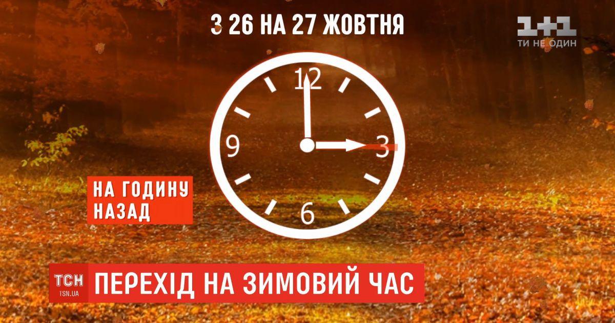 Україна переходить на зимовий час: коли переводити стрілки годинника