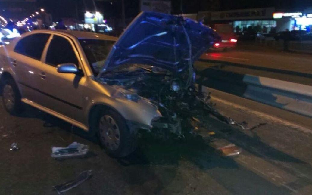 Ранения получили пять человек / © twitter/auto_kiev