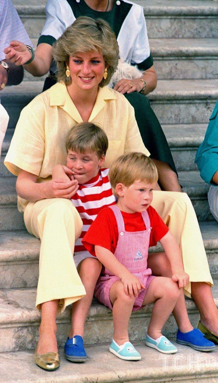 Принцесса Диана с сыновьями / © Associated Press