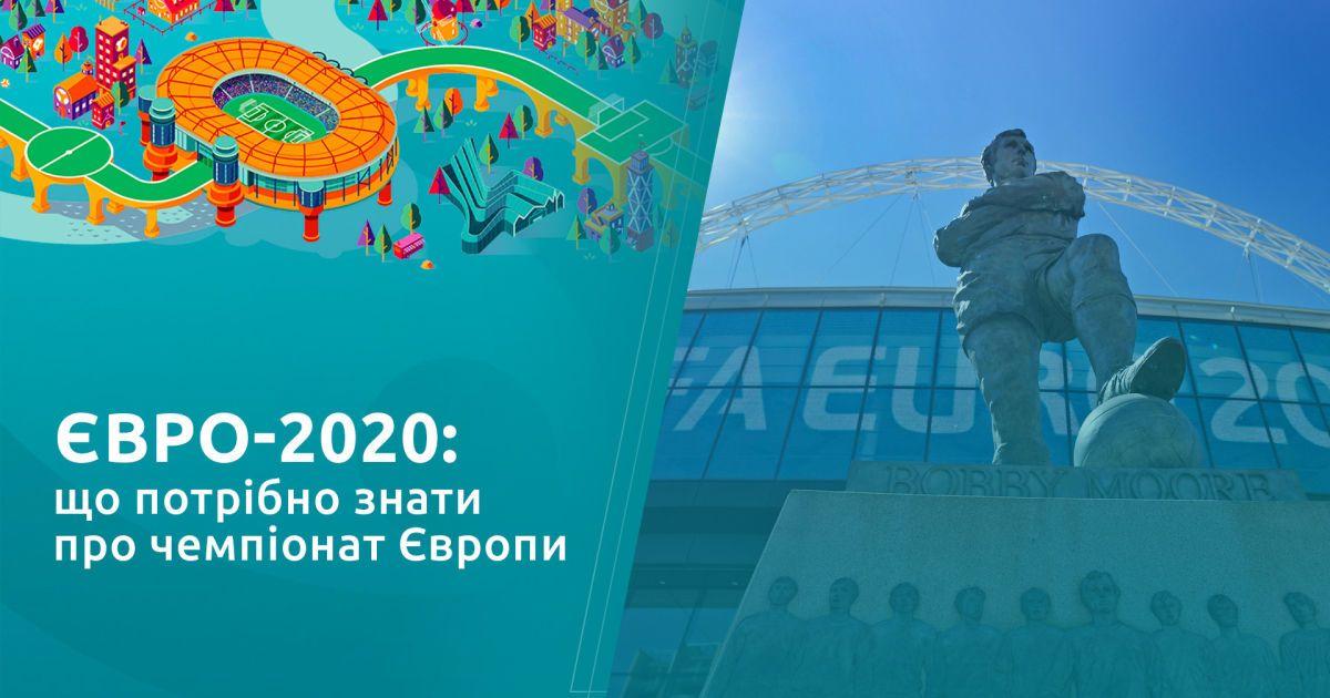 Євро-2020: що потрібно знати про чемпіонат  Європи