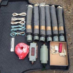 На Харьковщине нашли опасные тайники с оружием и взрывчаткой, изготовленными в РФ