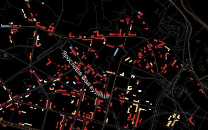 Активисты создали интерактивную карту зданий Киева с датами строительства