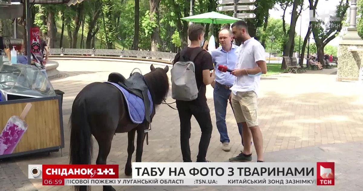 Киевская власть запретила фотографирование с экзотическими животными на улицах города