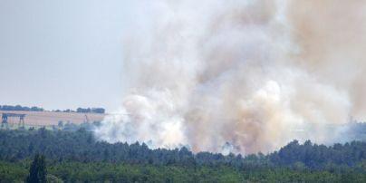 У Запоріжжі палає Хортиця: рятувальники намагаються вгамувати пожежу
