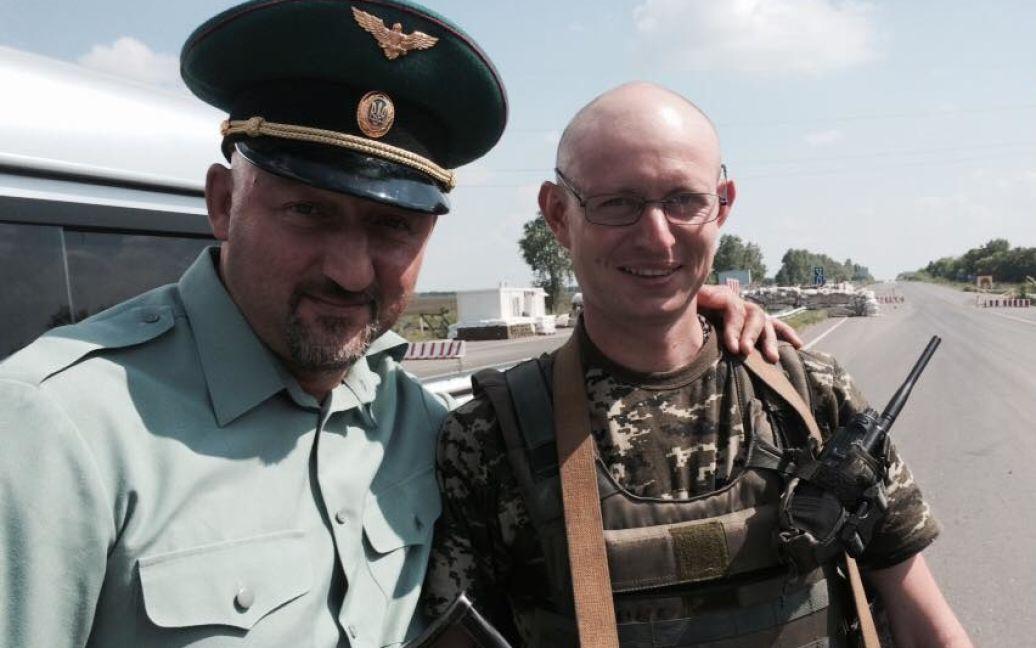Олексій Мочанов і двійник Яценюка / © Олексій Мочанов / Facebook