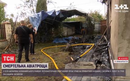 У будинку, в який врізався літак на Прикарпатті, були жінка і діти