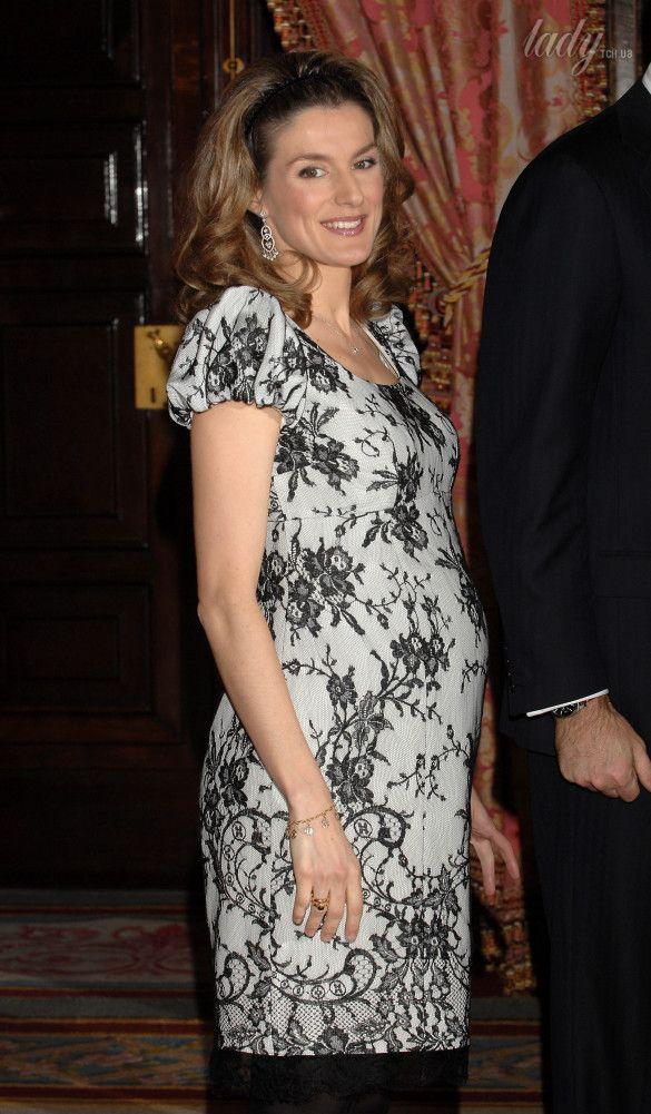 La reina Leticia durante su segundo embarazo, 2007 / © Getty Images