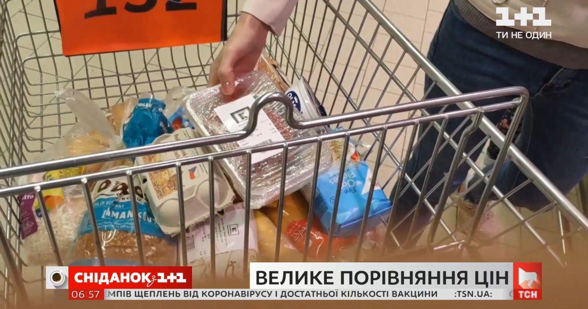 Великепорівняння цін: скільки коштують однакові продукти в Україні та Чехії