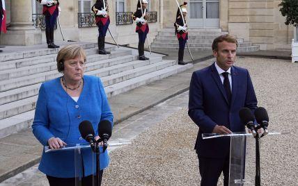 """Прогрес у """"Нормандському форматі"""" дуже повільний: про що говорила Меркель на зустрічі з Макроном"""
