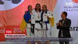 Новини світу: на чемпіонаті Європи з карате вперше від України була представлена жіноча збірна з розбивання предметів