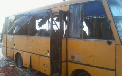 """З'явилося відео, як бойовики з """"Градів"""" накривають блокпост і автобус під Волновахою"""