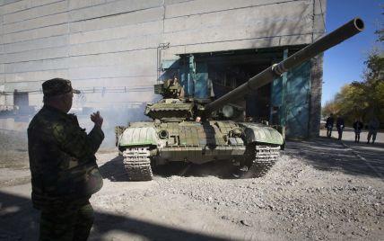 Боевики подтянули свои пушки и танки практически к линии соприкосновения. Карта АТО