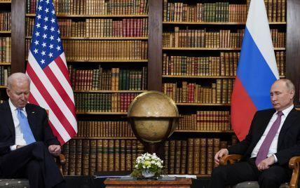 Встреча в Женеве: Путин подарил Байдену хохлому, а Байден Путину — солнечные очки и статуэтку