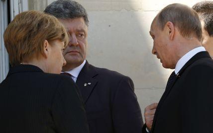 Порошенко, Олланд і Меркель погодилися, що Росія не прогресує у виконанні домовленностей