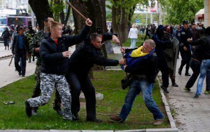 В Донецке экстремисты освободили взятых в плен участников проукраинского митинга