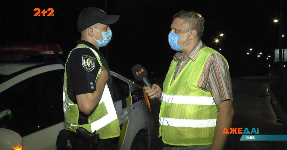В Киеве водитель на опасной дороге влетел в столб