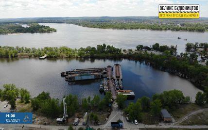"""Плюс один мегапроєкт """"Великого будівництва"""": стартувало зведення Кременчуцького мосту"""
