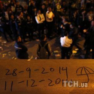 Гонконгський Майдан розігнали, але мітингувальники обіцяли повернутися
