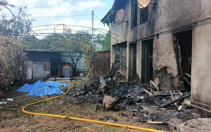 Падіння літака на Прикарпатті: рятувальники погасили масштабну пожежу в будинку (фото)