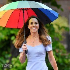 У небесно-блакитній сукні і сережках Діани: новий образ герцогині Кембриджської