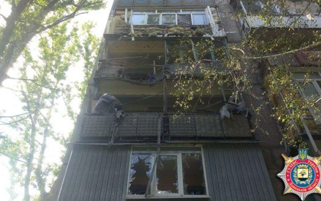 Боевики обстреляли жилой сектор в Авдеевке. / © МВД Донецкой области