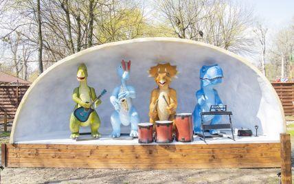 В Киеве открыли парк динозавров