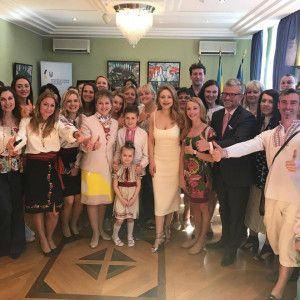 Тина Кароль в изысканном платье посетила посольство Украины в Германии