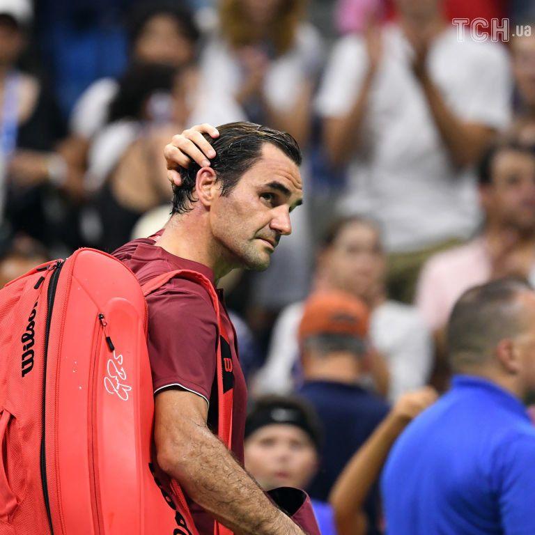 Федерер не впорався з погодою на US Open: Мені буквально не вистачало повітря