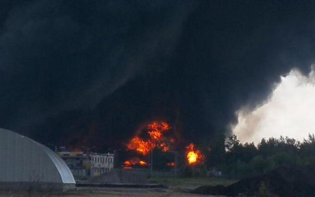 Место взрыва оцепили правоохранители / © twitter/@AvakovArsen