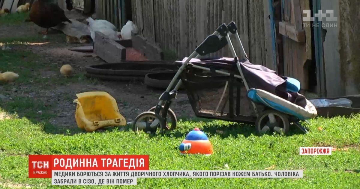 В Запорожье медики борются за жизнь 2-летнего мальчика, которого пытался зарезать отец