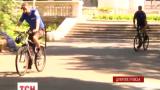 В Днепропетровске милиционеры пересели на велосипеды